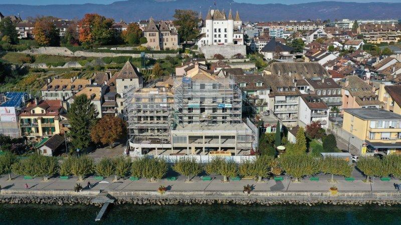 A Nyon, l'hôtel Beau-Rivage est hors d'eau et de danger