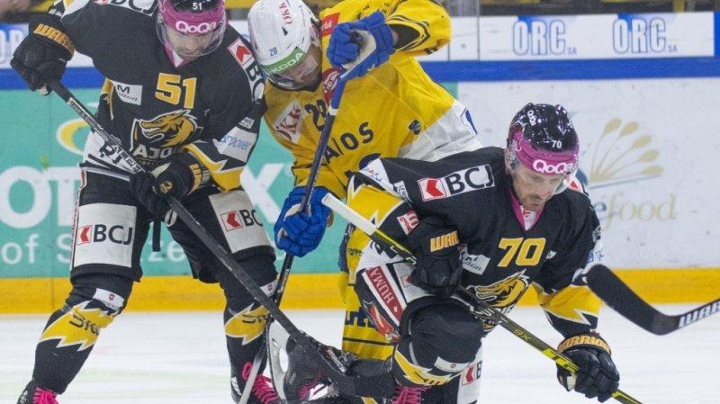 Hockey : Ajoie plie contre Davos, Bienne remporte le derby