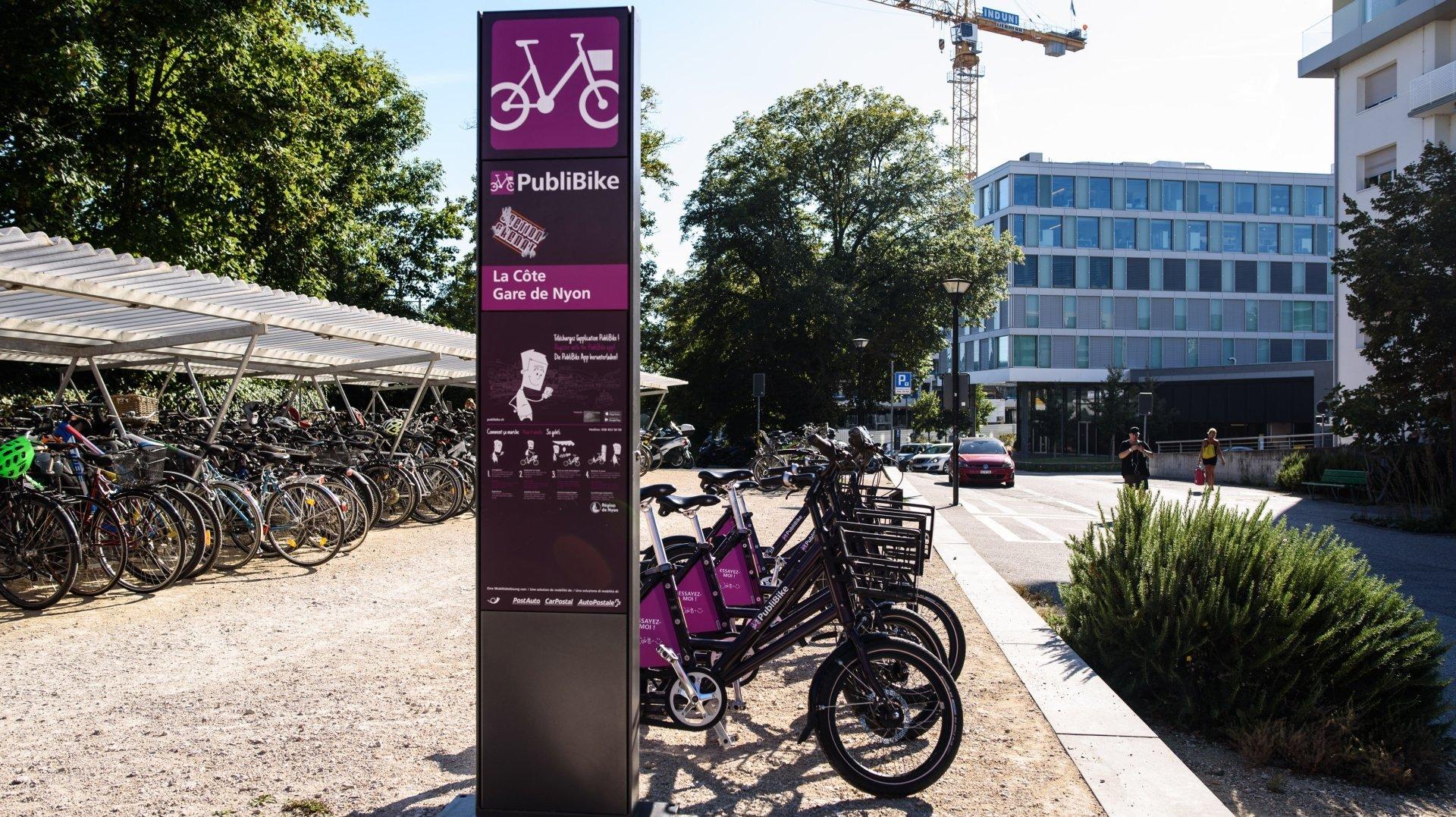 Région de Nyon: des rabais pour les vélos en libre-service