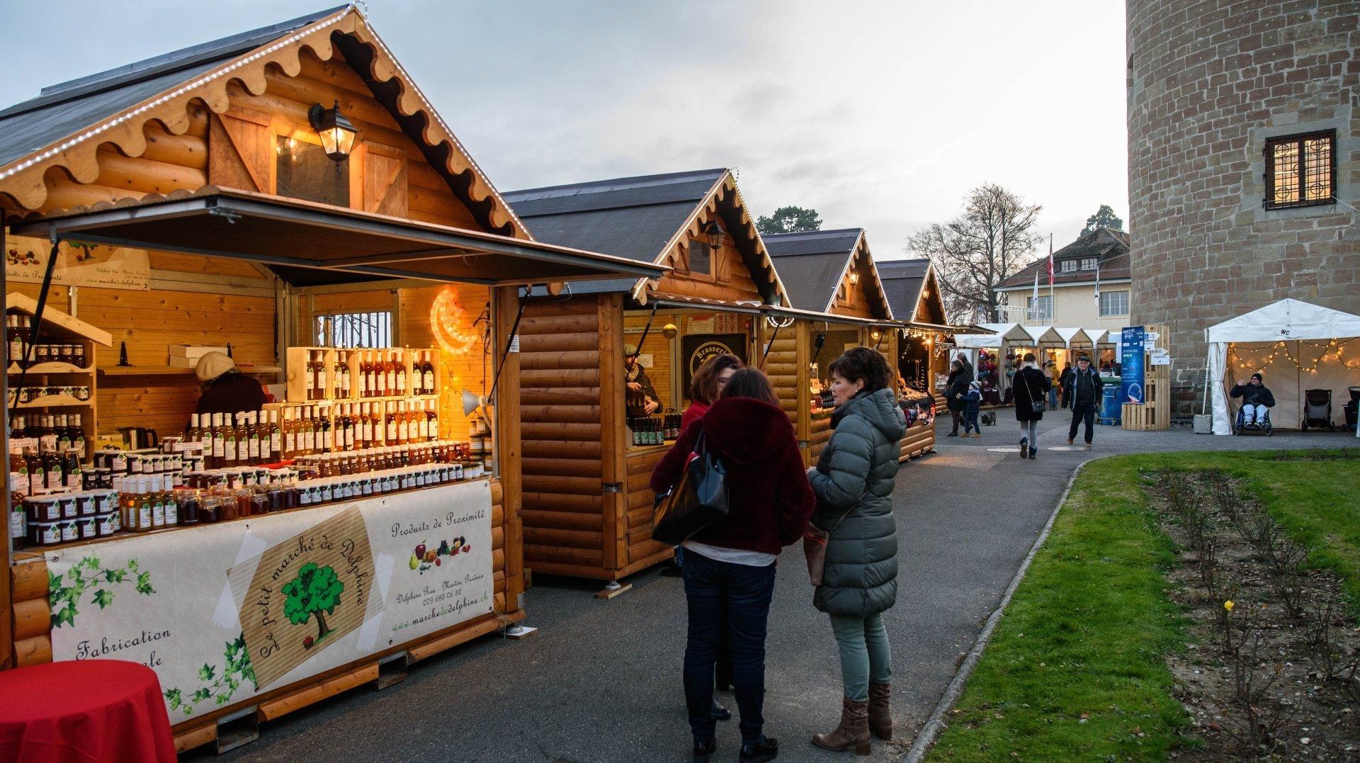 Morges: le marché de Noël fait son grand retour