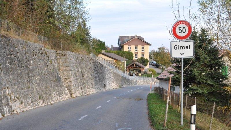 La route entre Gimel et Saint-George est fermée
