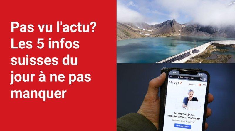 Les 5 infos à retenir dans l'actu suisse de ce jeudi 21 octobre