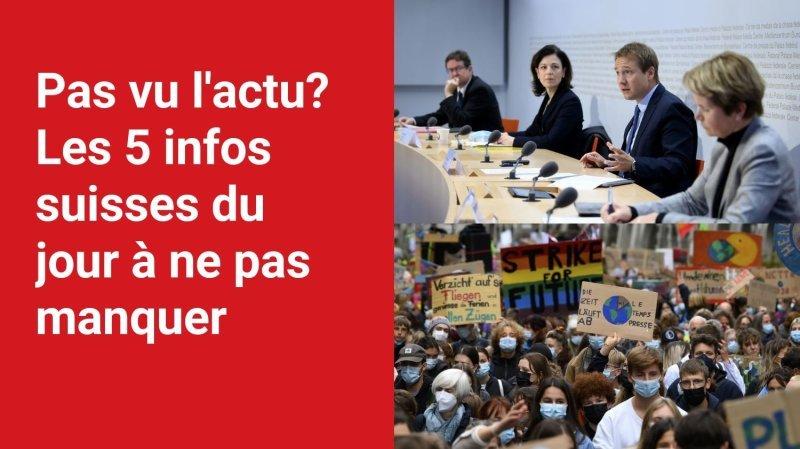 Les 5 infos à retenir dans l'actu suisse de ce vendredi 22 octobre
