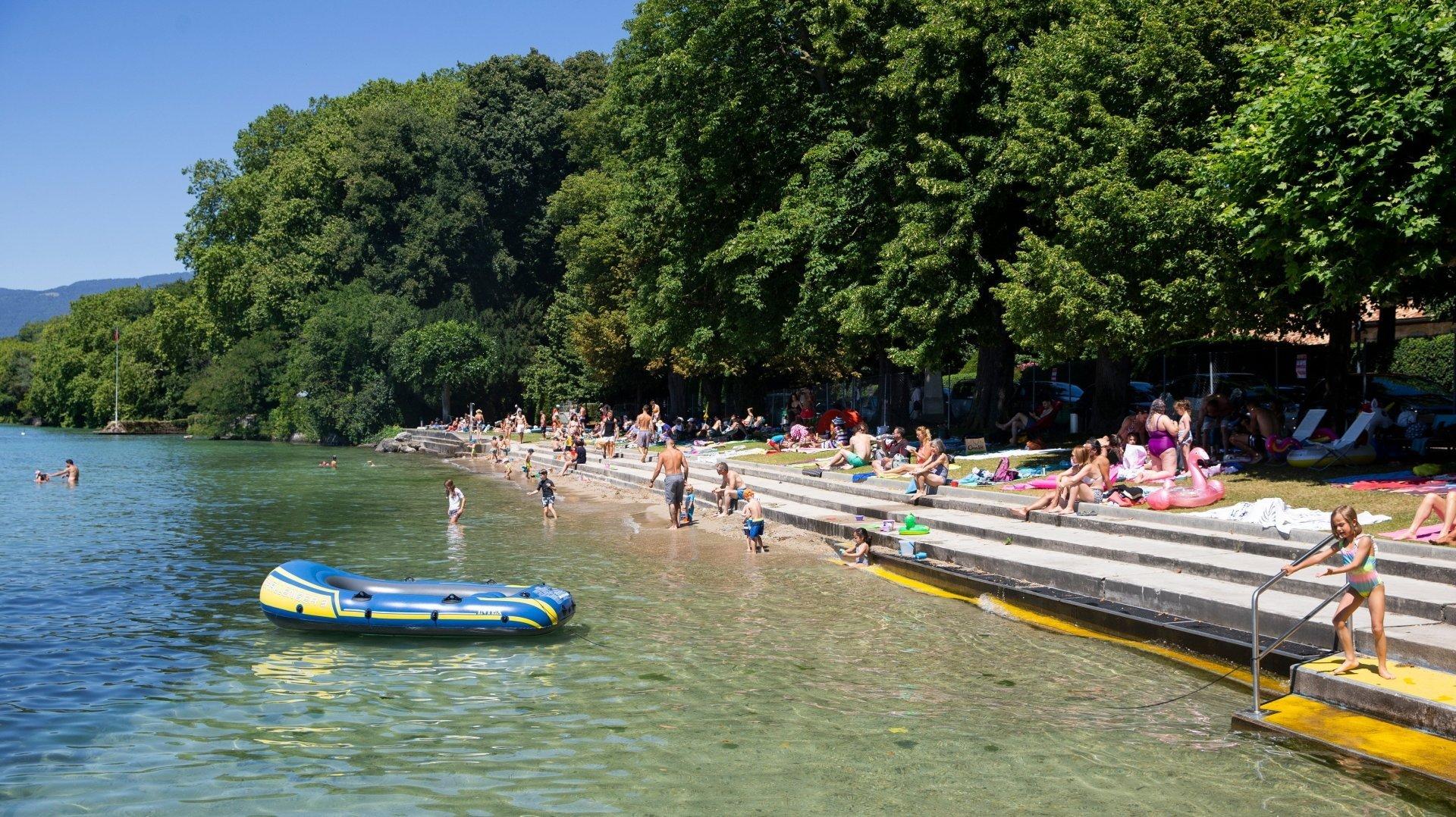 A Prangins, la gratuité de la plage n'est pas remise en cause