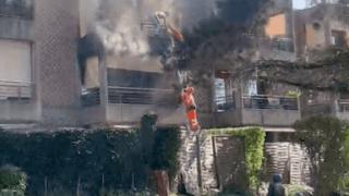 Incendie à Nyon: des habitants sauvés par des ouvriers du chantier voisin