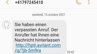 SMS indésirables en allemand: pourquoi vous ne devez pas ouvrir le lien