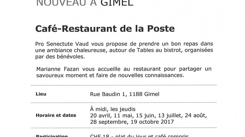 Table au bistrot