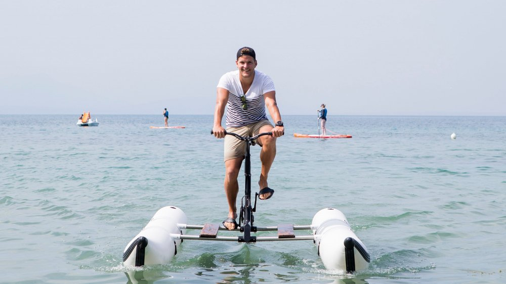 Yohan Barbey est distributeur du waterbike pour la Suisse, via son entreprise RR design.