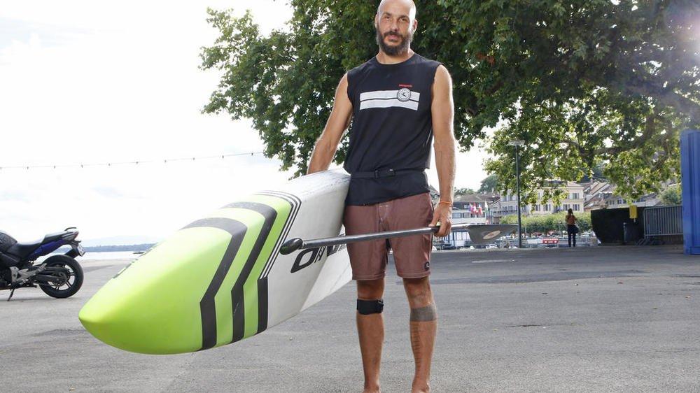 Steeve Fleury est cinq fois champion suisse de paddle