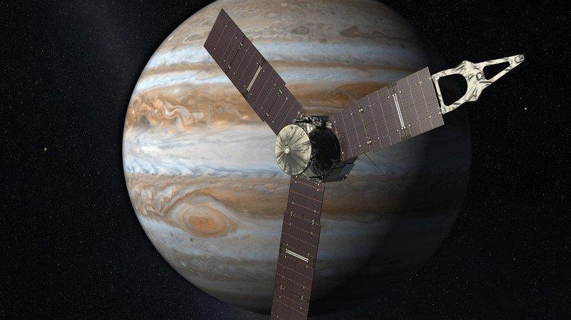 Espace: la sonde Juno a réussi à survoler la grande tache rouge de Jupiter