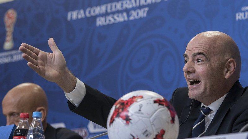 """""""De grandes erreurs ont été évitées"""", a déclaré Gianni Infantino en conférence de presse à Saint-Pétersbourg."""