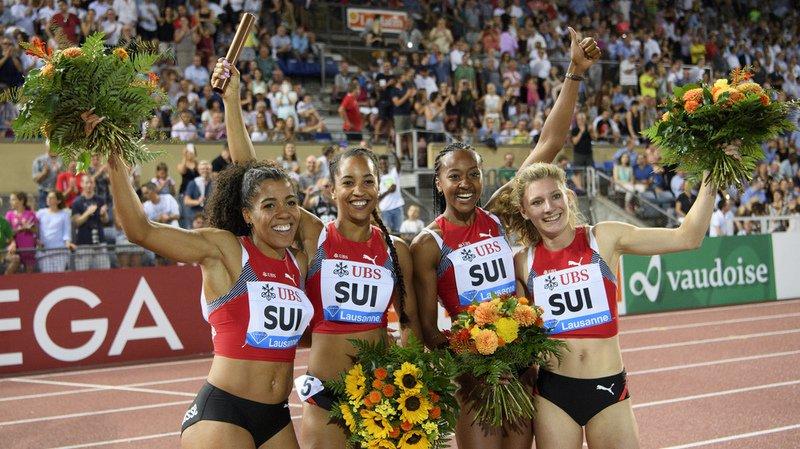 Mujinga Kambundji, Salome Kora, Sarah Atcho et Ajla Del Ponte sont devenues la quatrième équipe au monde en 2017.
