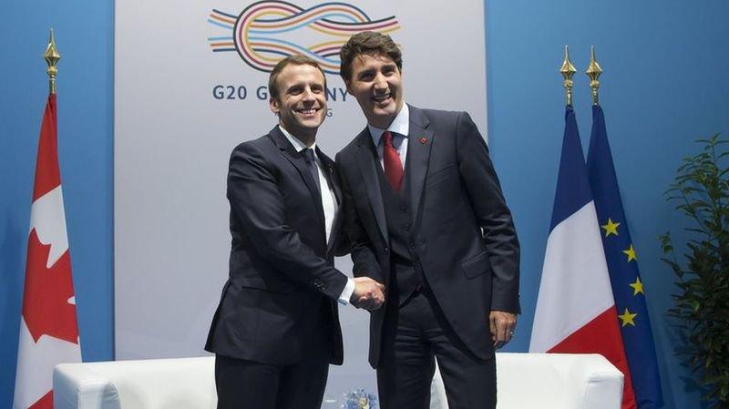 Sommet du G20 à Hambourg: Macron et Trudeau sur la même longueur d'onde face à Washington