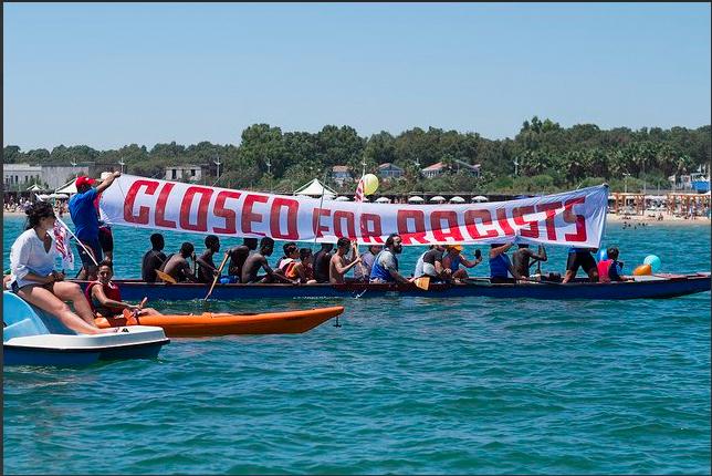Les manifestants demandent d'empêcher l'accès au port du C-Star.