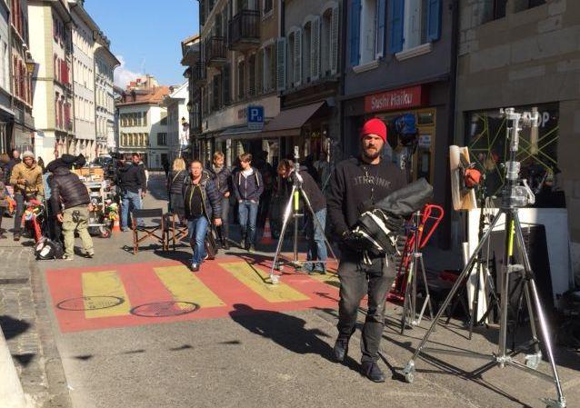 Une partie du court-métrage a été filmée au centre-ville.