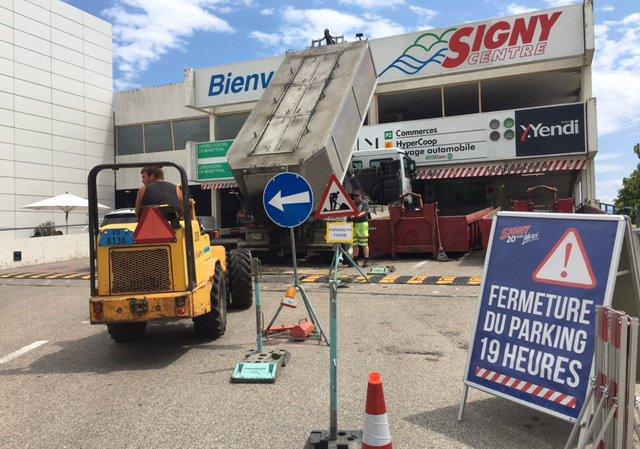 Le parking de Signy centre est fermé dès 19h