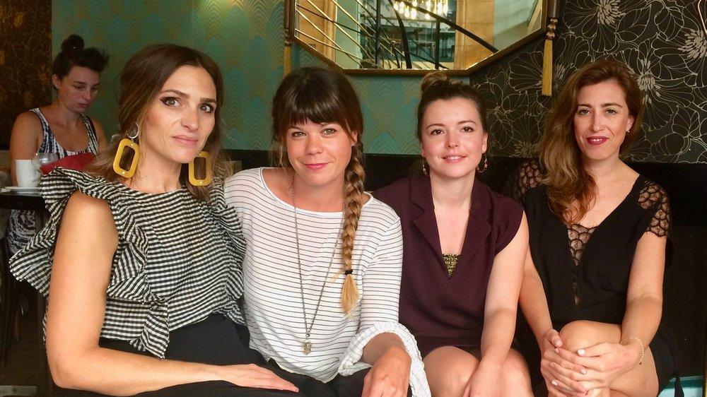 Une partie du comité de Swiss Fashion Point, de g. à dr.: Vanessa Hambaryan, Anne Glauser, Barbara Waldesbühl et Megane Panchaud.