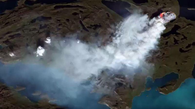 Groenland: des incendies ravagent la région