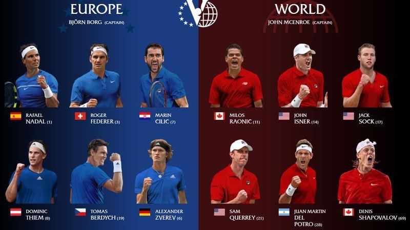 Laver Cup: Federer fera équipe avec Nadal, Zverev, Berdych, Cilic et Thiem contre le reste du monde