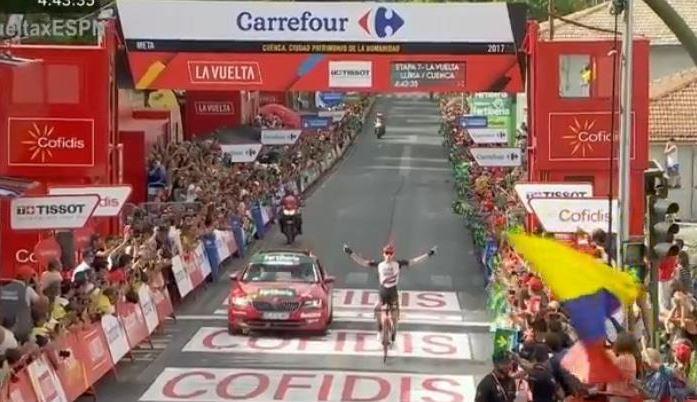 Tour d'Espagne: le Slovène Matej Mohoric remporte la 7e étape de la Vuelta