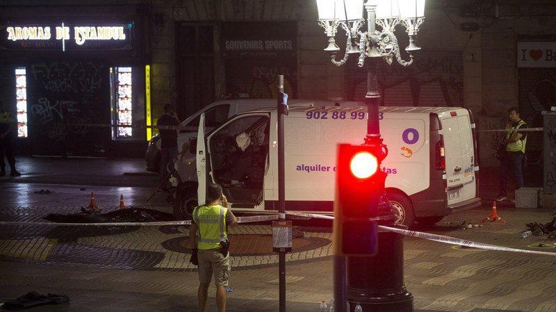 Attentat de Barcelone: le chauffeur de la camionnette des Ramblas formellement identifié par la police