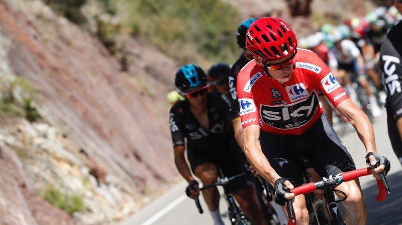 Tour d'Espagne: Chris Froome accélère dans le dernier kilomètre et remporte la 9e étape