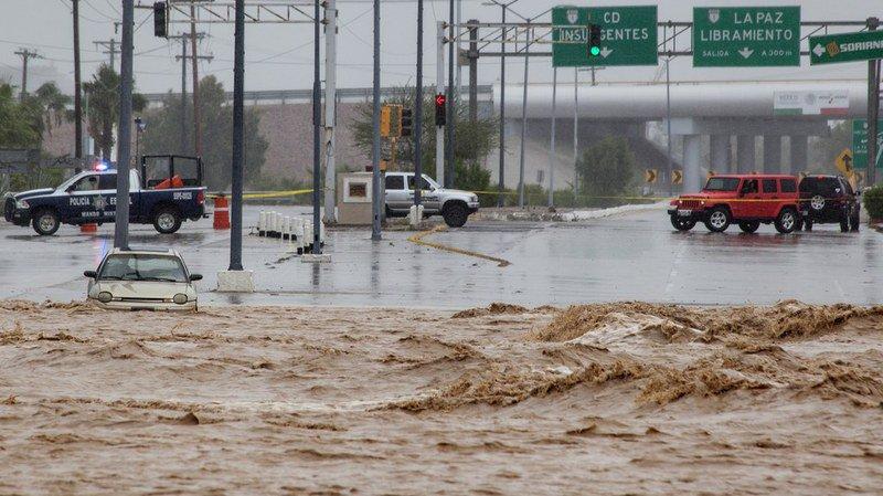 Mexique: la tempête tropicale Lidia a fait sept morts et progresse dans la péninsule