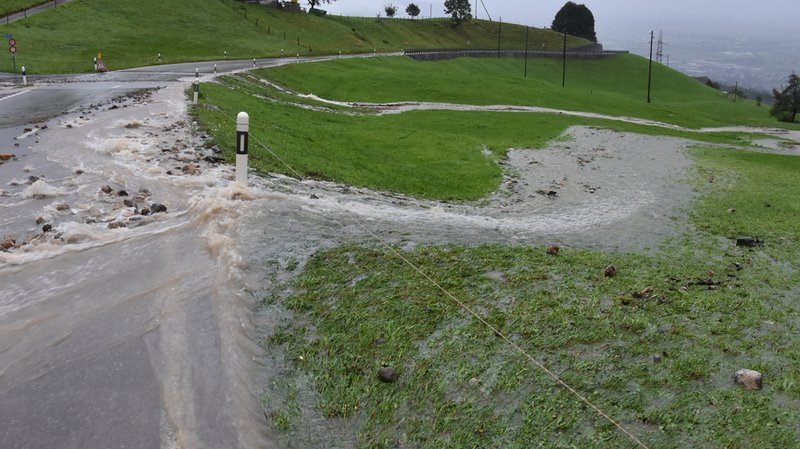 Météo: l'arrivée de l'automne est synonyme de déluge en Suisse orientale