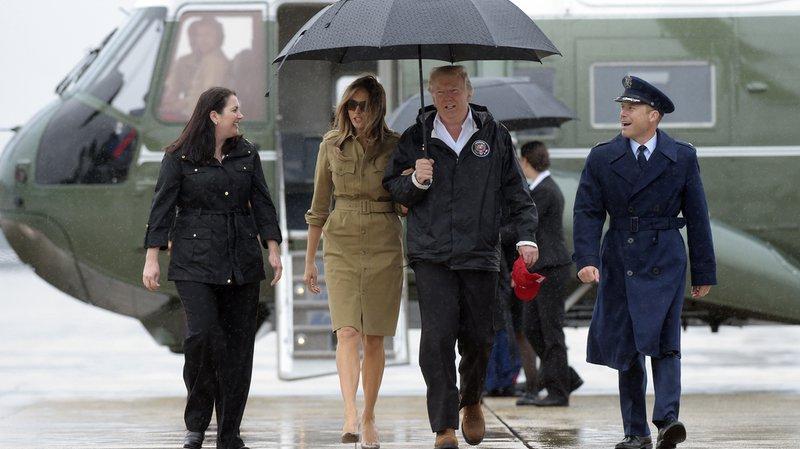 Tempête Harvey: Donald Trump rencontre les rescapés d'Houston