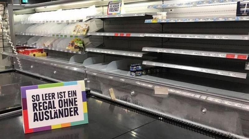 Contre le racisme, un magasin allemand enlève tous les produits étrangers de ses rayons