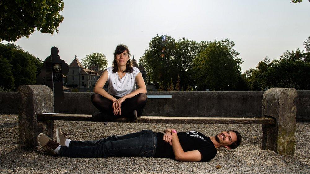 Kate Espasandin et Michaël Roelli, organisateurs de Jazz au Peuple, veulent dépoussiérer ce genre musical.