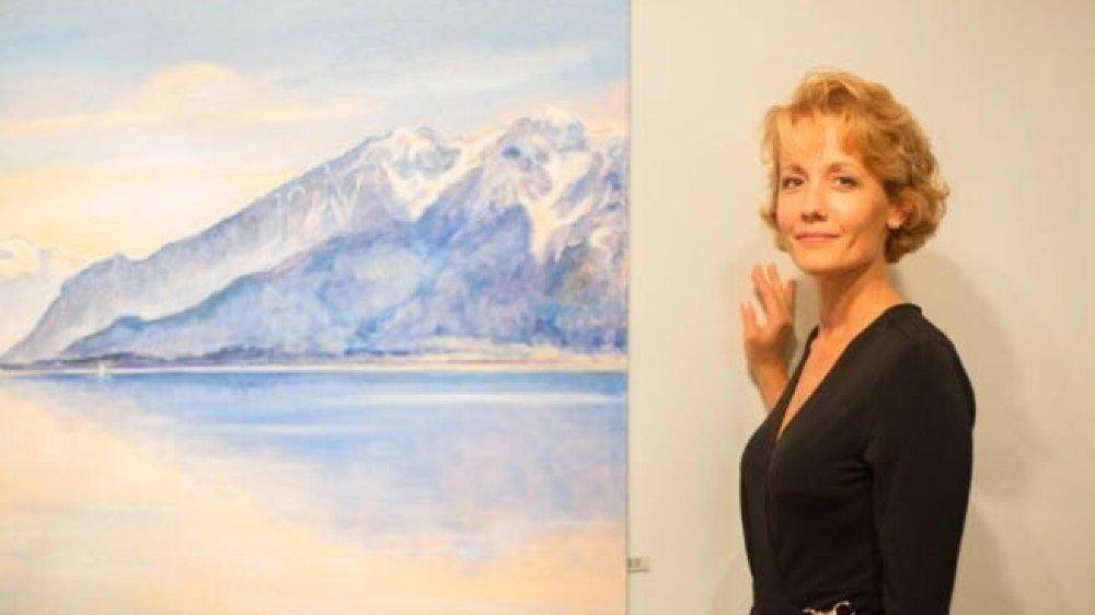 La peintre vaudoise mélange des paysages du réel à des éléments imaginaires.
