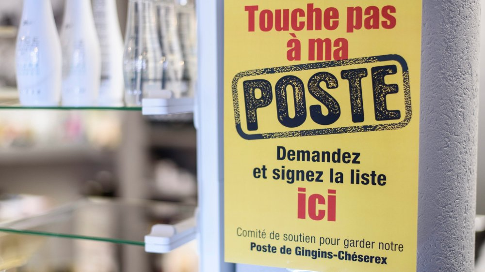 Il y a un an circulait la pétition «Touche pas à ma poste». Gingins n'a pas été entendu.