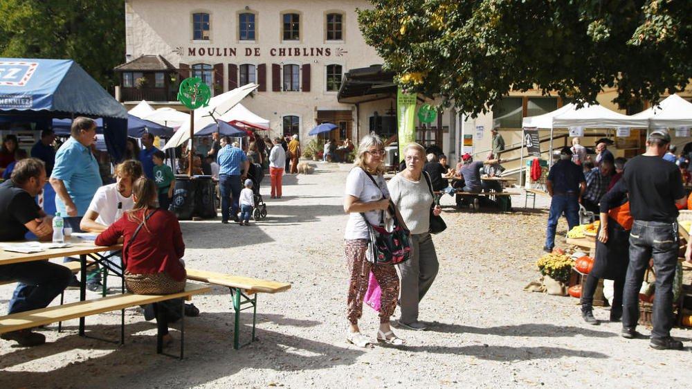 Le Marché paysan a eu lieu ce week-end au moulin de Chiblins.