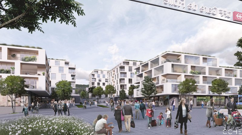 Rolle: oui au nouveau plan de quartier Gare Nord-Schenk