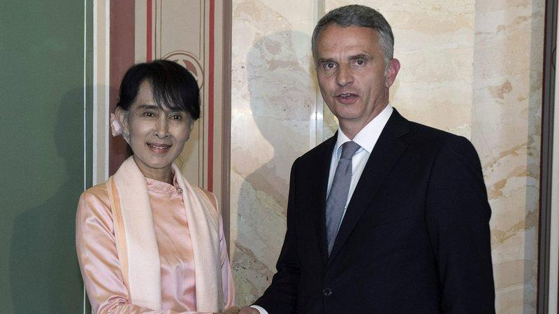Birmanie: Didier Burkhalter décu par l'attitude d'Aung San Suu Kyi face à la crise des Rohingyas