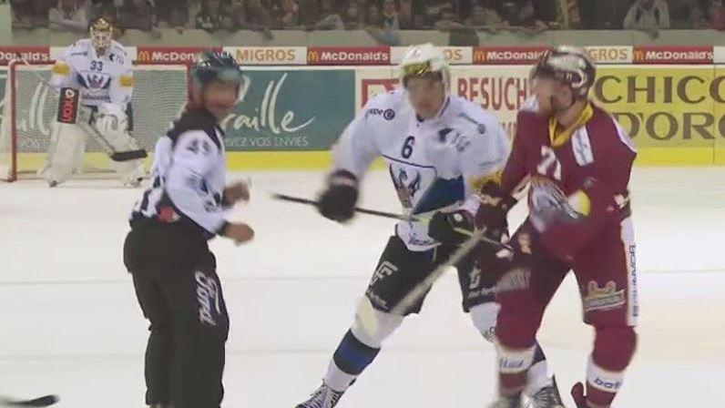 Rivera a été sanctionné pour un coup de canne contre le joueur de Genève-Servette.