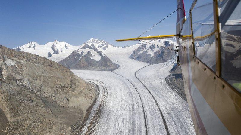 Les glaciers ont fondu de 3 à 4% durant l'année hydrologique 2017