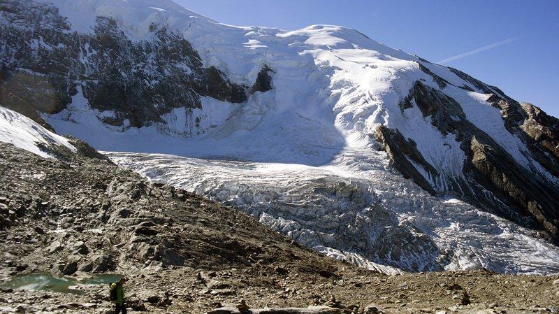 Valais: deux tiers du glacier de Trift au-dessus de Saas-Grund se sont effondrés sans atteindre le village
