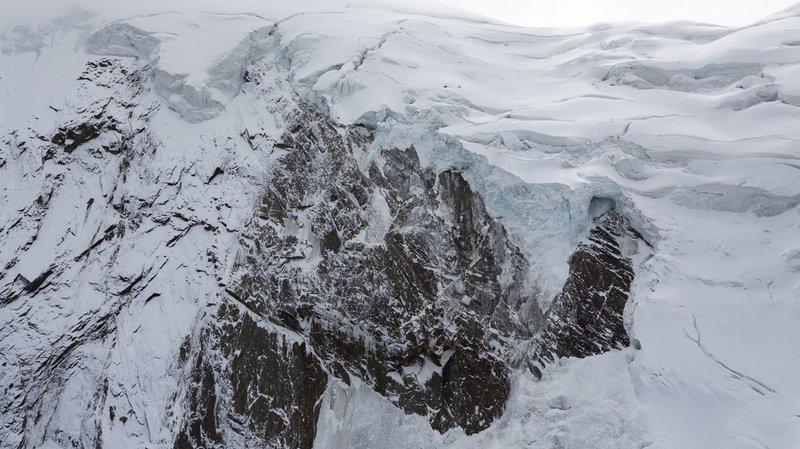 Valais: après un dernier effondrement, le glacier de Trift au-dessus de Saas-Grund ne représente plus de danger