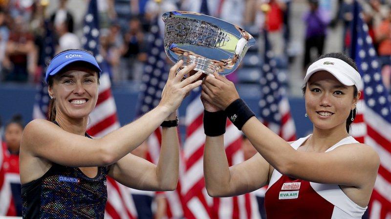 US Open: après le double mixte, Martina Hingis triomphe en double dames
