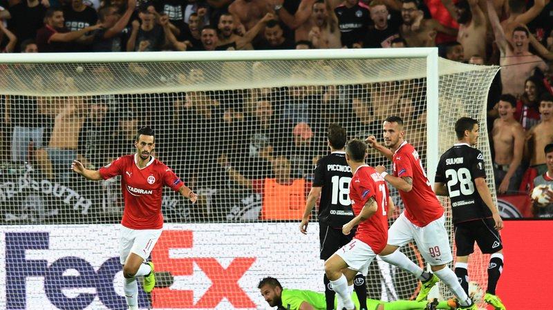 Football: en Europa League, Lugano s'incline 2-1 en Israël face à l'Hapoel Beer Sheva