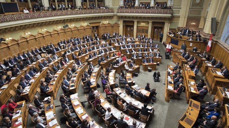 La salle du Conseil national.