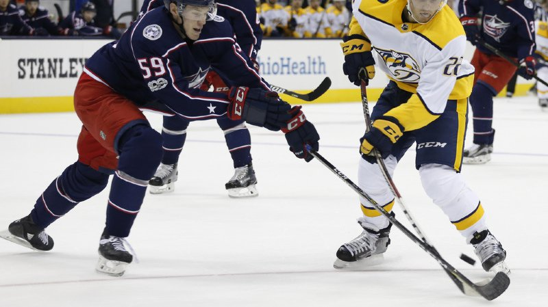 Fiala a inscrit son troisième but dans la campagne de préparation de la NHL lors du match de Nashville contre Columbus.