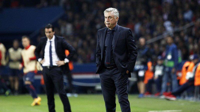 Carlo Ancelotti n'a pas trouvé la solution face au PSG d'Unay Emery. Son club l'a sanctionné.