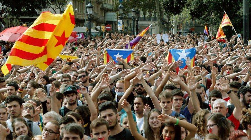 Référendum sur l'indépendance: la Catalogne en grève pour défendre ses droits