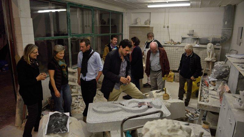L'an dernier déjà, Ewald Brigger ouvrait son atelier de sculpture.