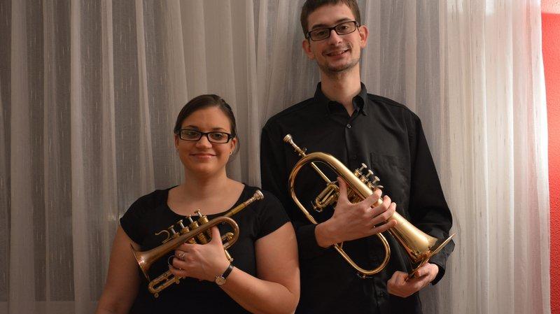 Les jeunes Pranginois Mélissa Krummenacher et Antoine Rabut assureront l'ouverture du concert de dimanche.