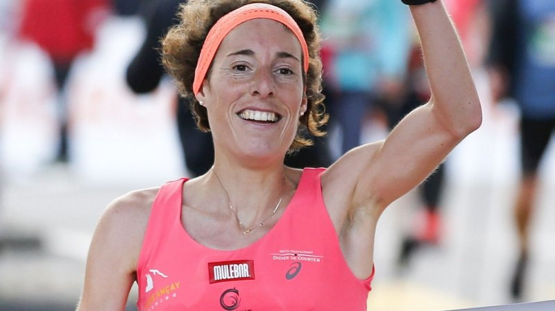 Le triomphe de Maude Mathys dimanche à Fribourg.