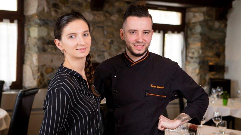 Morgane Le Strat et Tony Lemesle (chef) ont repris l'Auberge du Chasseur fin 2016.